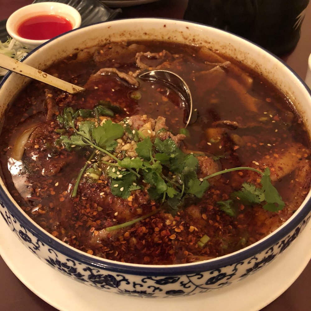 beef in flaming chili oil